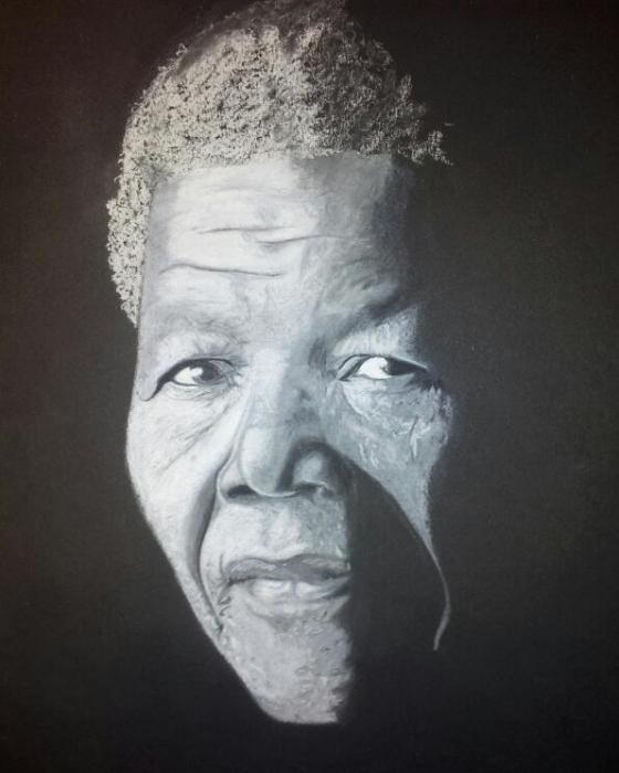 Nelson Mandela by LUDO